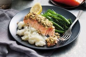 pecan-crusted-salmon-with-cauliflower-mash