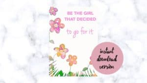 The weight loss planner - Be the girl that decided to go for it