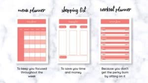 Instant download - planners and shopping list